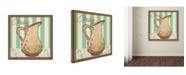 "Trademark Global Masters Fine Art 'Cream Teal' Canvas Art - 18"" x 18"""