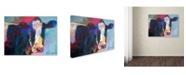 "Trademark Global Richard Wallich 'Art B Cow' Canvas Art - 18"" x 24"""