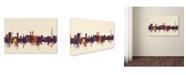 """Trademark Global Michael Tompsett 'Bremen Germany Skyline V' Canvas Art - 16"""" x 24"""""""