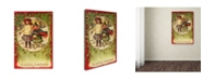 "Trademark Global Vintage Apple Collection 'Joyful Christmas' Canvas Art - 16"" x 24"""