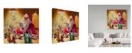 "Trademark Global Steve Henderson 'Santa More Than Toys' Canvas Art - 18"" x 18"""