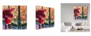 "Trademark Global Steve Henderson 'Santa An Unforeseen Encounter' Canvas Art - 18"" x 18"""