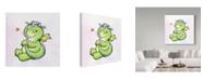 "Trademark Global Valarie Wade 'Little Friend' Canvas Art - 18"" x 18"""