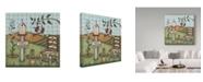 """Trademark Global Robin Betterley 'Ladybug Cottage' Canvas Art - 14"""" x 14"""""""