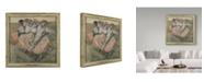 "Trademark Global Edgar Degas 'Three Russian Dancers' Canvas Art - 14"" x 14"""