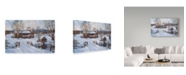 "Trademark Global Jack Wemp 'Spring House By The Bridge' Canvas Art - 24"" x 16"""