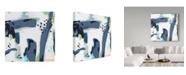 "Trademark Global Jennifer Mccully 'Mystic Fog Abstract' Canvas Art - 18"" x 18"""