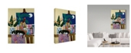 "Trademark Global Jan Panico 'Did You Walk Through My Paint Again' Canvas Art - 18"" x 24"""