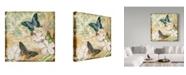 """Trademark Global Jean Plout 'Inspirational Butterflies 1' Canvas Art - 18"""" x 18"""""""