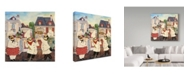 "Trademark Global Jean Plout 'Italian Chefs' Canvas Art - 24"" x 24"""