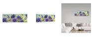 "Trademark Global Jean Plout 'Bouquet De Fleur 2' Canvas Art - 24"" x 8"""