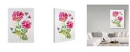 "Trademark Global Jean Plout 'Watercolor Flowers 1' Canvas Art - 24"" x 32"""