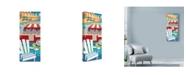 "Trademark Global Larry Hunter 'Trailer Park Illustration' Canvas Art - 20"" x 47"""