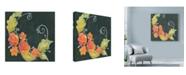 "Trademark Global Maureen Lisa Costello 'Orange Roses Chalk' Canvas Art - 14"" x 14"""