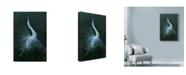 "Trademark Global Michael Jackson 'Displaying Egret' Canvas Art - 16"" x 24"""