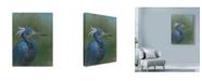 "Trademark Global Michael Jackson 'Tricolour Egret' Canvas Art - 14"" x 19"""