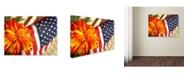 "Trademark Global Monica Fleet 'Grace in Honor' Canvas Art - 19"" x 14"""