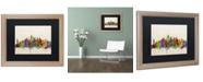 """Trademark Global Michael Tompsett 'New York Skyline' Matted Framed Art - 16"""" x 20"""""""