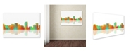 "Trademark Global Marlene Watson 'Honolulu Hawaii Skyline' Canvas Art - 16"" x 24"""