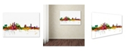 "Trademark Global Michael Tompsett 'Tampa Florida Skyline' Canvas Art - 16"" x 24"""