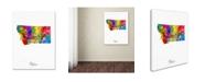 """Trademark Global Michael Tompsett 'Montana Map' Canvas Art - 18"""" x 24"""""""