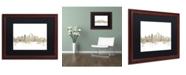 """Trademark Global Michael Tompsett 'Seattle Skyline Sheet Music' Matted Framed Art - 16"""" x 20"""""""