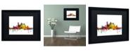 """Trademark Global Michael Tompsett 'Pittsburgh Pennsylvania Skyline' Matted Framed Art - 16"""" x 20"""""""