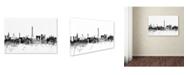 Trademark Global Michael Tompsett 'Paris France Skyline B&W' Canvas Art