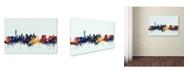 "Trademark Global Michael Tompsett 'Las Vegas Nevada Skyline Blue' Canvas Art - 22"" x 32"""