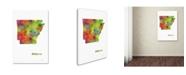 "Trademark Global Marlene Watson 'Arizona State Map-1' Canvas Art - 22"" x 32"""