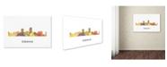 "Trademark Global Marlene Watson 'Omaha Nebraska Skyline WB-1' Canvas Art - 30"" x 47"""