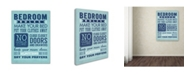 "Trademark Global Stephanie Marrott 'Bedroom Rules' Canvas Art - 24"" x 32"""