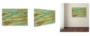 "Trademark Global Indian School 'Paint on metal III' Canvas Art - 22"" x 32"""