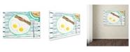 "Trademark Global Wyanne 'Over Easy' Canvas Art - 35"" x 47"""