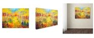 "Trademark Global Marion Rose 'Golden Path' Canvas Art - 24"" x 32"""