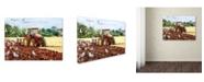 "Trademark Global The Macneil Studio 'Autumn Ploughing' Canvas Art - 35"" x 47"""