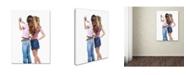"Trademark Global The Macneil Studio 'Girls Mobile Phone' Canvas Art - 35"" x 47"""