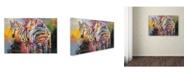 "Trademark Global Richard Wallich 'Zebras' Canvas Art - 30"" x 47"""
