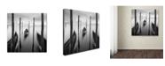"""Trademark Global Moises Levy '3 Gondolas' Canvas Art - 24"""" x 24"""""""