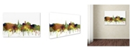 "Trademark Global Marlene Watson 'Alexandria Virginia Skyline SG Safari Buff' Canvas Art - 22"" x 32"""