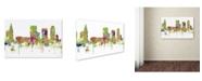 "Trademark Global Marlene Watson 'Tulsa Oklahoma SG Faded Glory' Canvas Art - 30"" x 47"""
