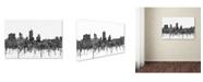 "Trademark Global Marlene Watson 'Fort Worth Texas Skyline BW' Canvas Art - 30"" x 47"""