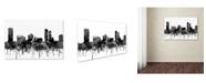 "Trademark Global Marlene Watson 'Milwaukee Wisconsin Skyline BW' Canvas Art - 30"" x 47"""