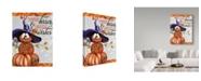 "Trademark Global Sheena Pike Art And Illustration 'Pumpkin Kisses' Canvas Art - 35"" x 47"""