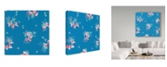 "Trademark Global Joyce Bantock 'Aqua' Canvas Art - 24"" x 24"""