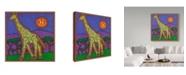 """Trademark Global Willow Bascom 'Giraffe' Canvas Art - 35"""" x 35"""""""
