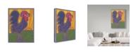 "Trademark Global Willow Bascom 'Rooster' Canvas Art - 35"" x 47"""