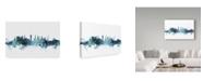 "Trademark Global Michael Tompsett 'Glasgow Scotland Blue Teal Skyline' Canvas Art - 24"" x 16"""