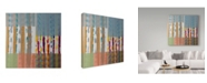"Trademark Global Hooshang Khorasani 'Shades Of Color' Canvas Art - 35"" x 35"""