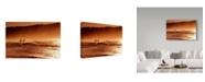 "Trademark Global Incredi 'Orange Day' Canvas Art - 47"" x 30"""